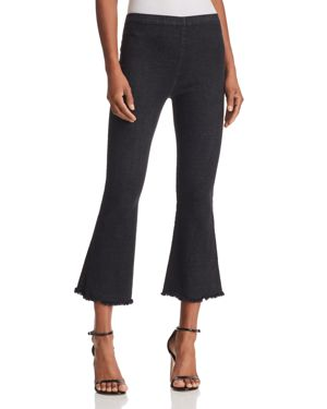 PIECE OF MY HEART CROPPED FLARED DENIM LEGGINGS