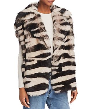 Iro. jeans Zarl Zebra-Print Shearling Vest