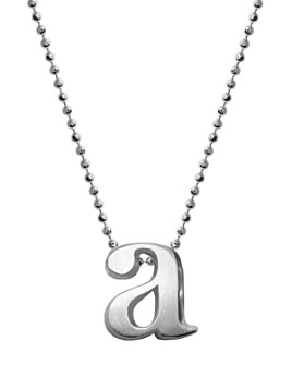 Alex Woo - Sterling Silver Little Letter A Necklace, 16""