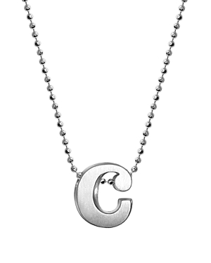 Sterling Silver Little Letter A Necklace