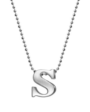 ALEX WOO Sterling Silver Little Letter A Necklace, 16 in Silver/S