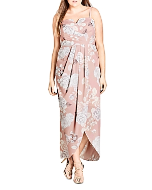 City Chic Plus Whimsical Floral Maxi Dress