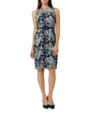 EVERLY EMBROIDERED SHEATH DRESS