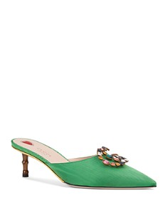 Gucci - Women's Crystal Double G Mules