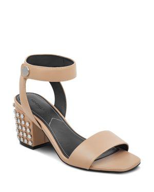 Sophie Studded Block Heel Sandals, Light Native