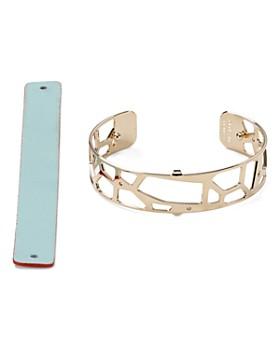 Les Georgettes - Giraffe Reversible Two-Tone Open Cuff Bracelet