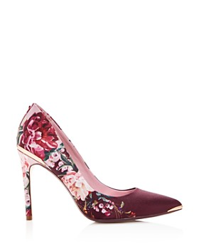Ted Baker - Women's Kawaap Floral Print Satin Pointed Toe Pumps