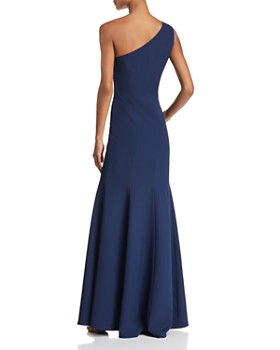 Laundry by Shelli Segal - One-Shoulder Crepe Gown - 100% Exclusive