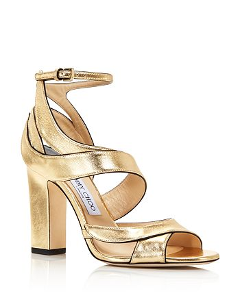Jimmy Choo - Women's Falcon 100 Leather High-Heel Sandals