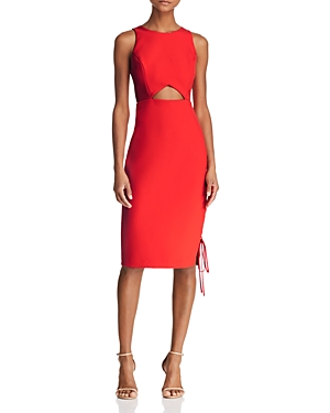 Bcbgmaxazria Cutout Crepe Dress