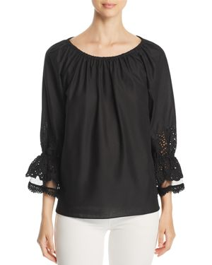 CHARLY EYELET DETAIL TOP - 100% EXCLUSIVE
