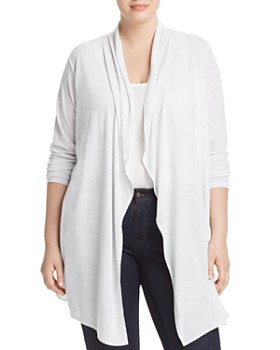 Marc New York Plus - Space-Dyed Draped-Front Cardigan