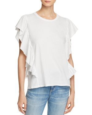 MICHELLE BY COMUNE RUFFLE CREWNECK TEE