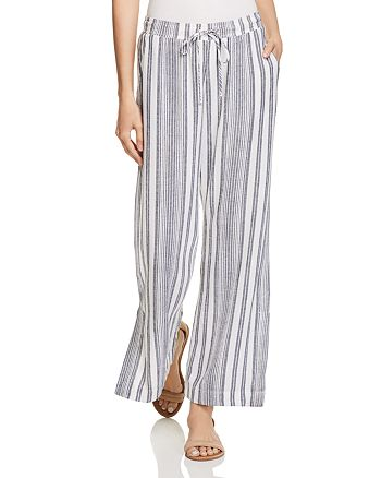 Bella Dahl - Slit Wide-Leg Stripe Pants