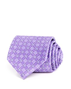 The Men's Store at Bloomingdale's Textured Square Floret Classic Tie - 100% Exclusive_0