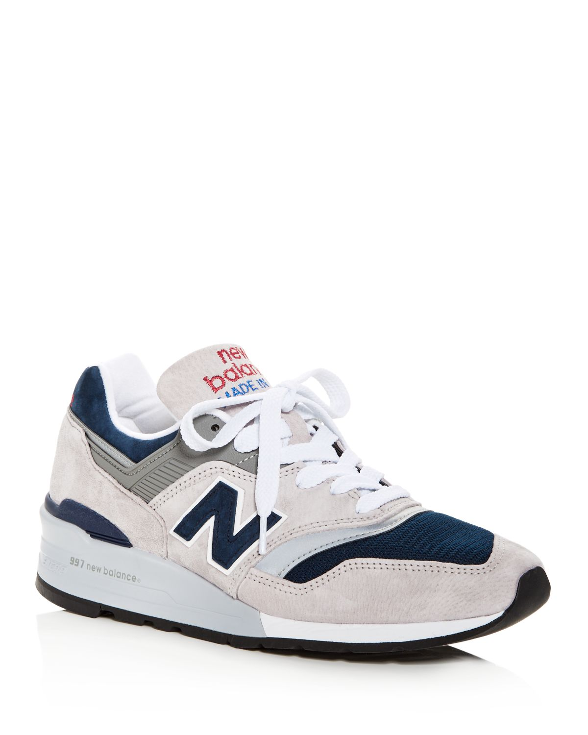 New Balance Men's 997 Made in Usa Suede Lace Up Sneakers