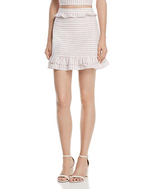 AQUA - Ruffled Striped Skirt - 100% Exclusive