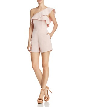 Bardot - Ruffled One-Shoulder Romper - 100% Exclusive