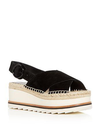 8591cd2ef569 Marc Fisher LTD. - Women s Glenna Suede Slingback Espadrille Platform  Sandals