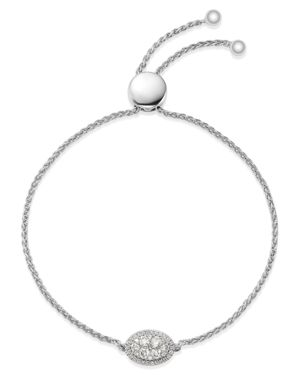 Bloomingdale's Diamond Cluster Bolo Bracelet in 14K White Gold, 0.50 ct. t.w. - 100% Exclusive