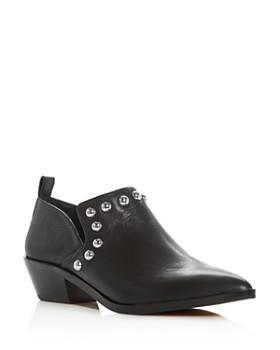 Rebecca Minkoff - Women's Katen Studded Leather Low Heel Booties
