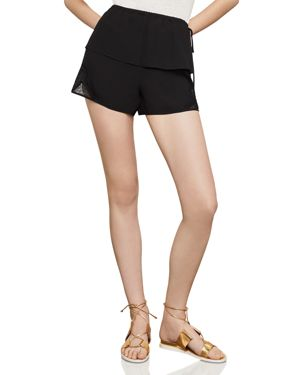 SATIN-BACK CREPE & LACE SHORTS