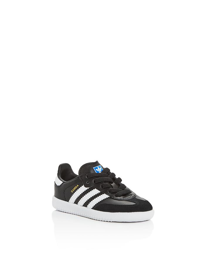 Adidas - Unisex Samba Leather & Suede Lace Up Sneakers - Walker, Toddler