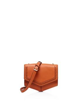 Sandro Lou Woven Leather Crossbody