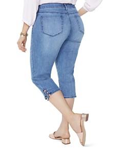 NYDJ Plus - Lace-Up Cuff Skinny Capri Jeans in Point Dume