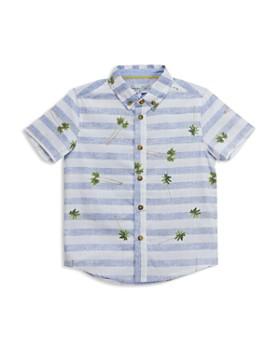 Sovereign Code - Boys' Striped Palm Tree Short-Sleeve Shirt - Big Kid