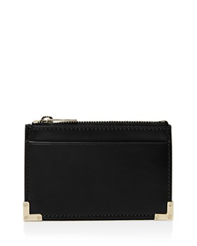 The Kooples Leather Zip Card Case