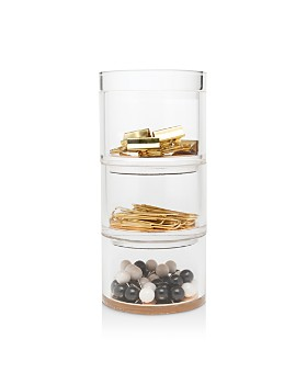 kate spade new york - Acrylic Stackable Desk Organizer Set, Strike Gold