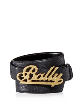 Bally - Swoosh Logo Reversible Leather Belt