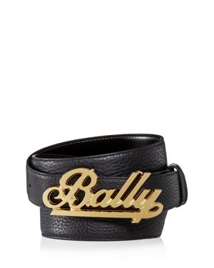 Bally Swoosh Logo Reversible Leather Belt