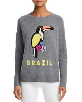 AQUA - Brazil Toucan Cashmere Sweater - 100% Exclusive