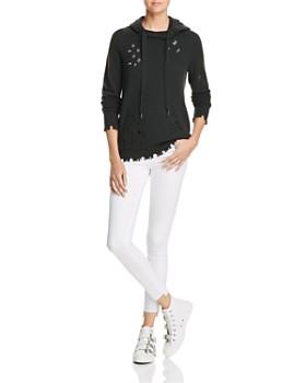 AQUA - Distressed Cashmere Hooded Sweatshirt