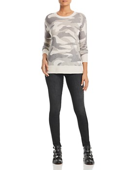 C by Bloomingdale's - Camo Cashmere Sweater - 100% Exclusive
