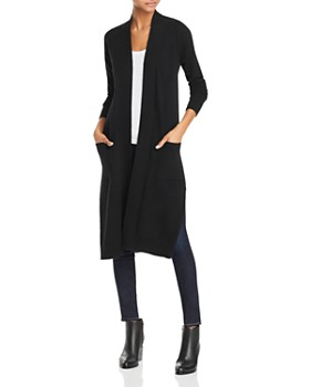 AQUA - Long Open Cashmere Cardigan - 100% Exclusive