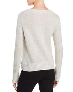 AQUA - Zip Detail Donegal Cashmere Sweater - 100% Exclusive