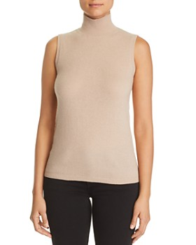 C by Bloomingdale's - Sleeveless Cashmere Sweater - 100% Exclusive