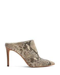 Dolce Vita - Women's Cinda Snake-Embossed Leather High-Heel Mules