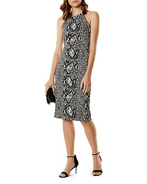 Karen Millen Snake Print Sheath Dress