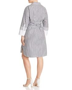 Lafayette 148 New York Plus - Fabiola Striped Shirt Dress