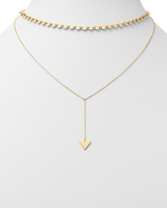 "Moon & Meadow - Layered Choker Necklace in 14K Yellow Gold, 15"" - 100% Exclusive"