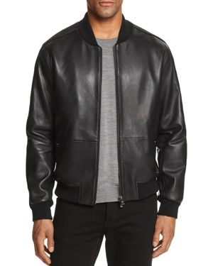 BOSS MIRTON LEATHER & SUEDE BOMBER JACKET - 100% EXCLUSIVE