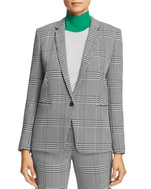 Jemaromina Glen Plaid Suit Jacket, Open Misc
