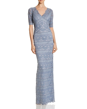 Adrianna Papell Lace Column Gown