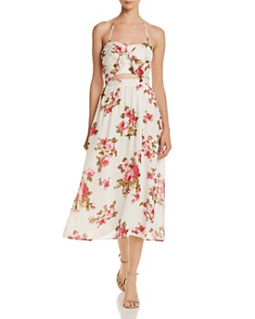 WAYF - Daria Floral Halter Dress
