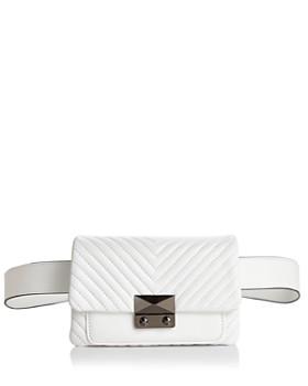 AQUA - Skinny V Quilt Belt Bag - 100% Exclusive