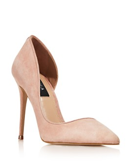 AQUA - Women's Dion Half d'Orsay High-Heel Pumps - 100% Exclusive